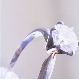 Jewelry - 10 KT  Cubic Zirconium 1 ct Engagement Ring